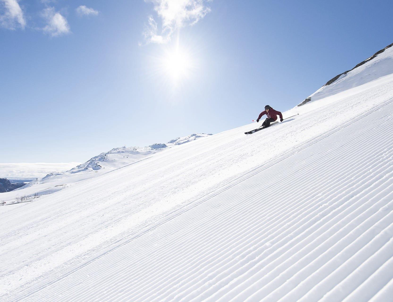 Start dagen på nypreppet kord. Foto Ola Matsson, SkiStar Hemsedal.