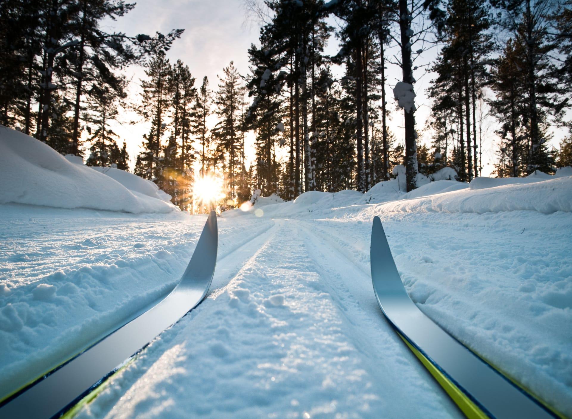 Kort vei til marka for en skitur