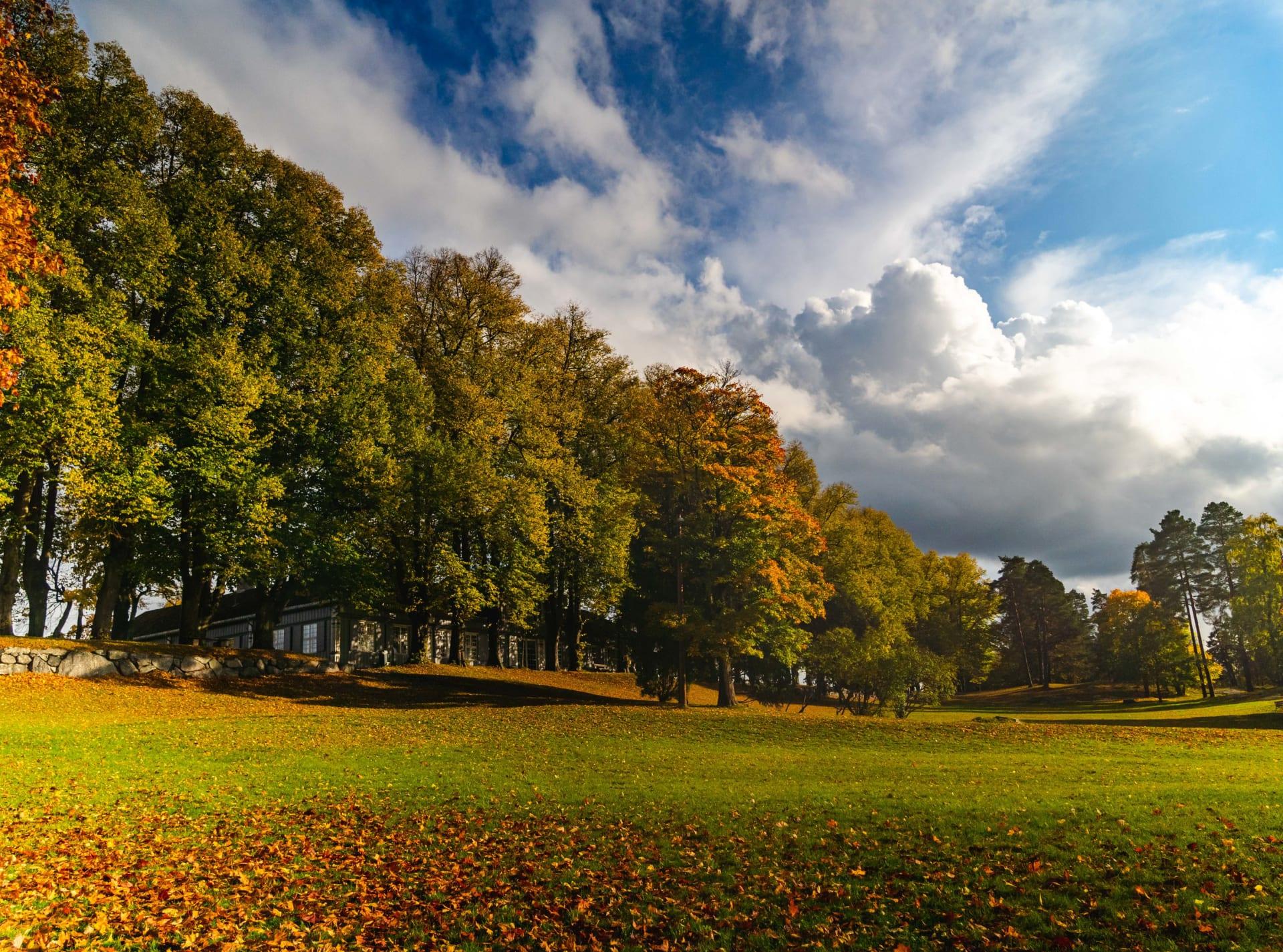 En flott park på ca 135 mål omkranser gården