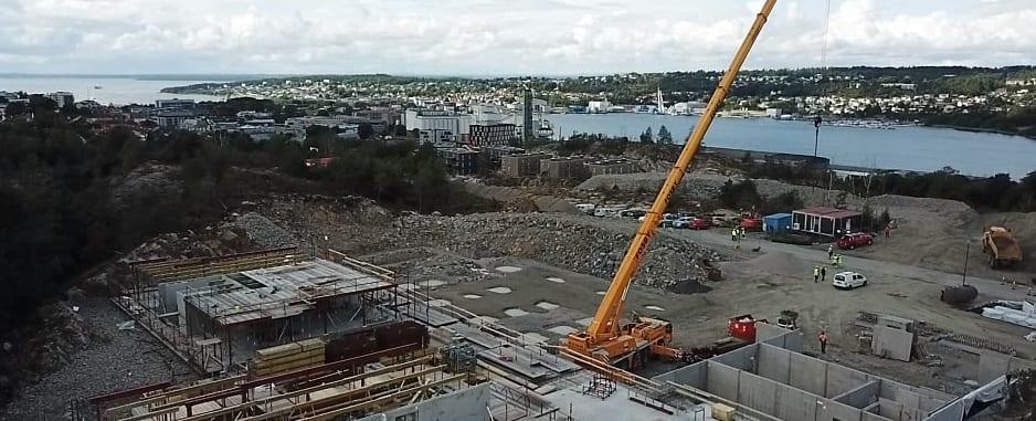 Byggearbeidene på Verkstoppen går for fullt igjen etter sommerferien