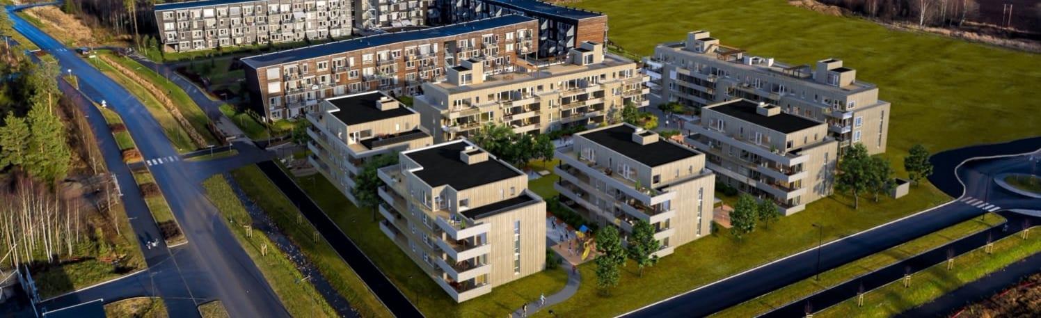 Easy Living Jessheim er utviklet av Solid Prosjekt