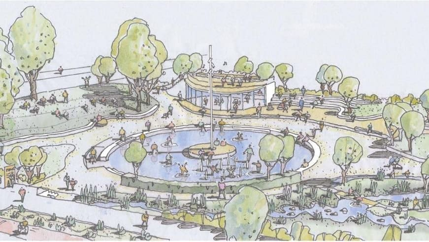 Illustrasjon Skåreparken Bjørbekk & Lindheim. Kilde: Lørenskog Kommune
