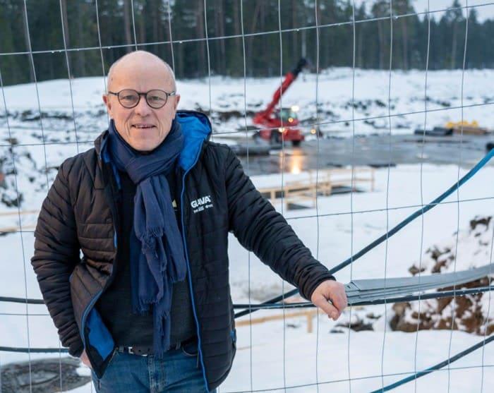 Byggeprosessen har startet på Skogmo Park.