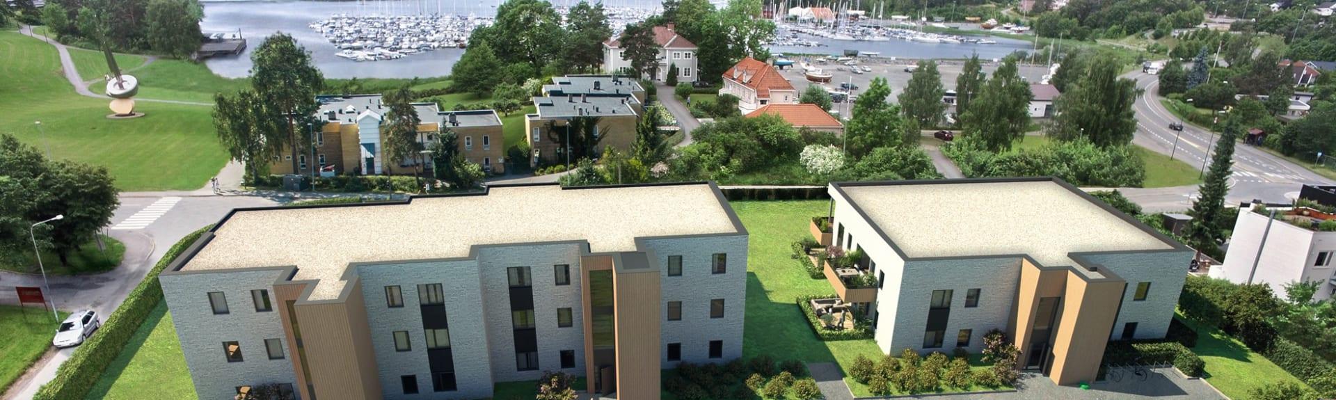Unike leiligheter til salgs på vakre Høvik! Tett på sjø, strand og grønne parkområder.