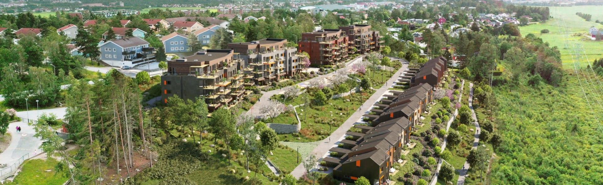 Rådalsåsen boligfelt utviklet av Solid Prosjekt