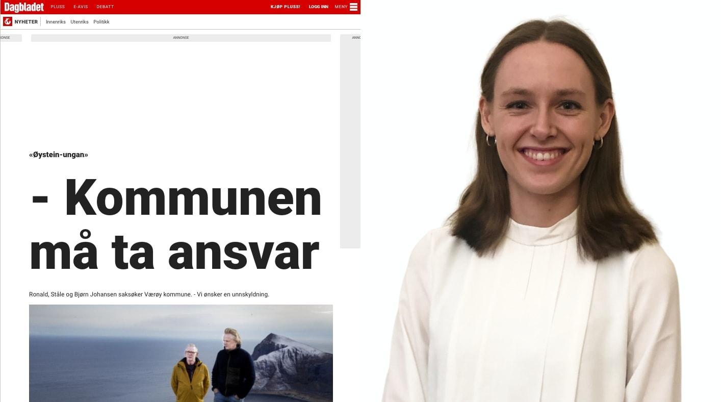 Advokatfullmektig Oda Fjon representerer brødrene som krever erstatning for tapt barndom fra Værøy kommune.
