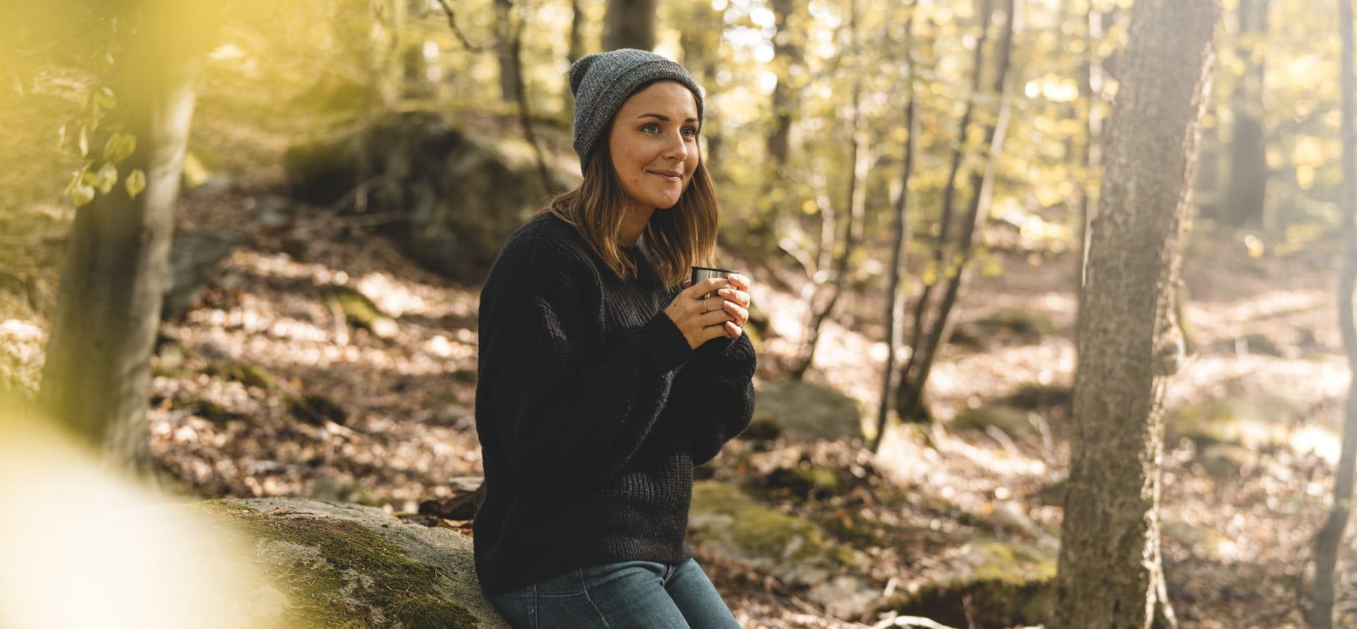 Lett å nyte skogens ro.