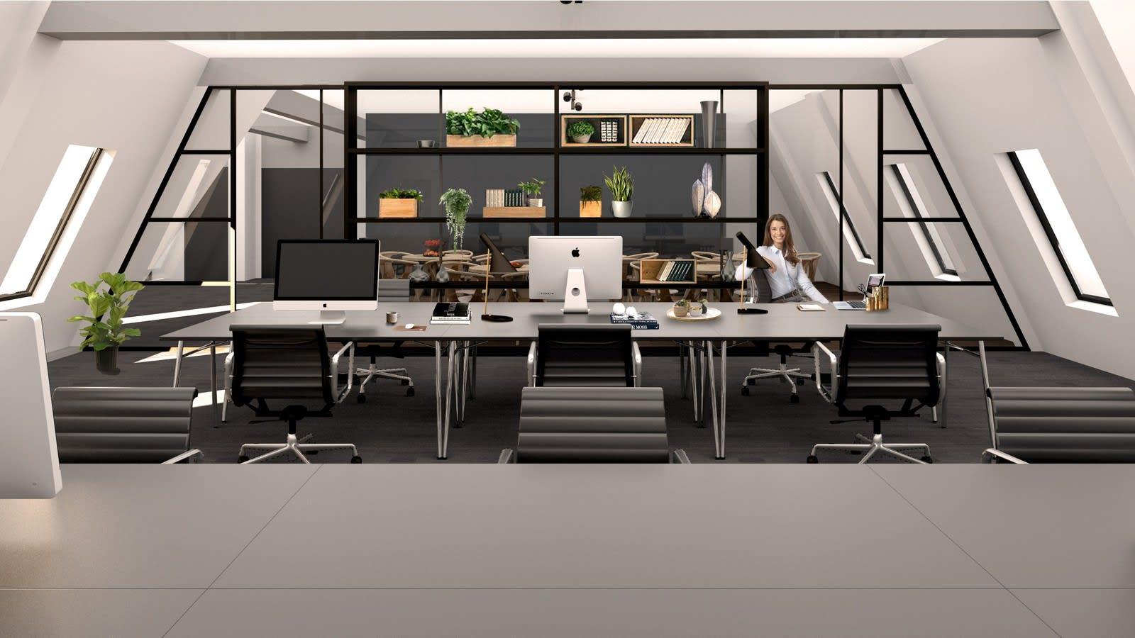 Plan 7 - Særegne lokaler i eiendommens øverste etasje. Lokalene leveres med kreativt og urbant preg (Illustrasjonsbilde).