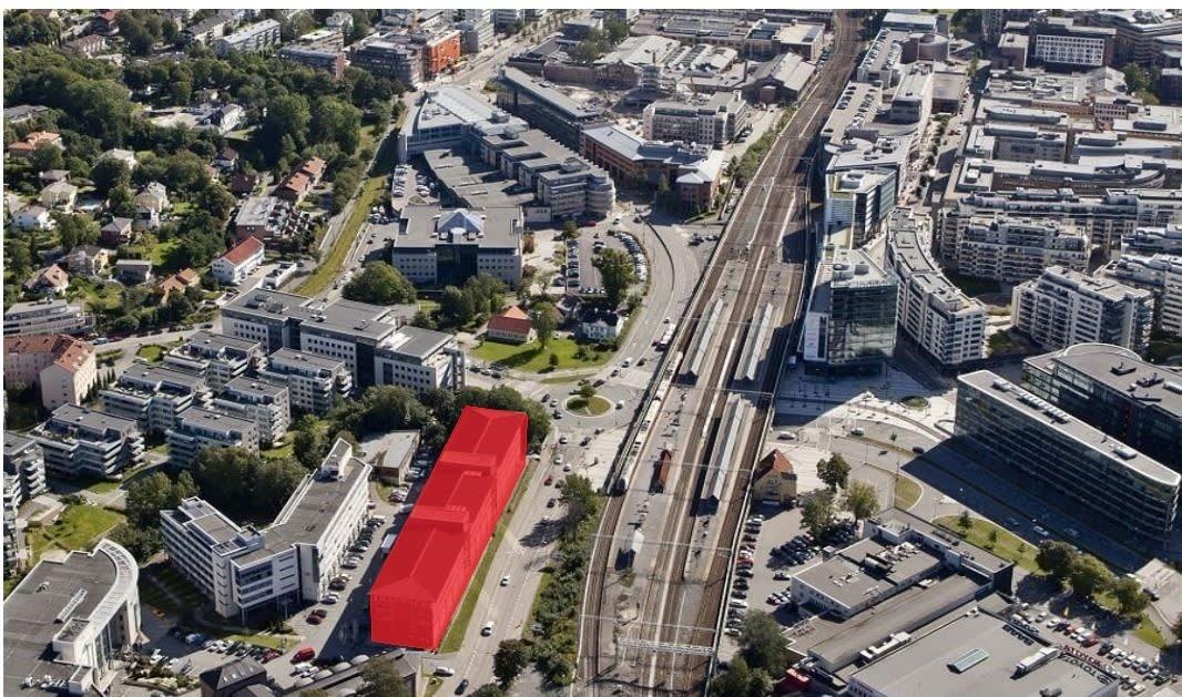 Hoffsveien 1A ligger et steinkast fra Skøyen stasjon