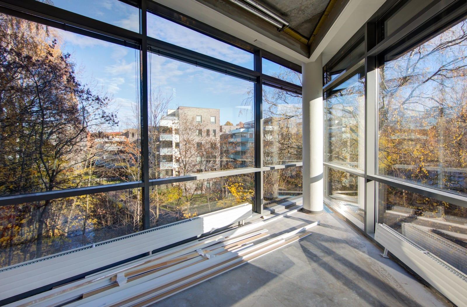 Lokalene er ribbet til betongen og kan utformes til leietakers ønsker og behov