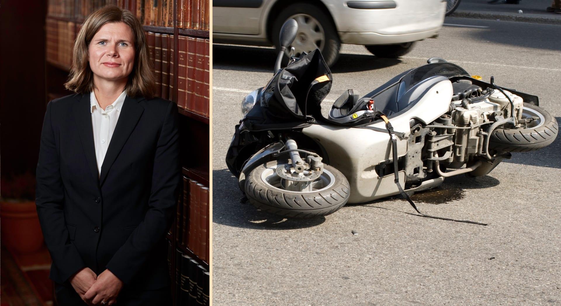 Advokat Nora Løvøi Bjørnstad sørget for at mannen fikk 2,4 millioner i erstatning etter skuterulykken.