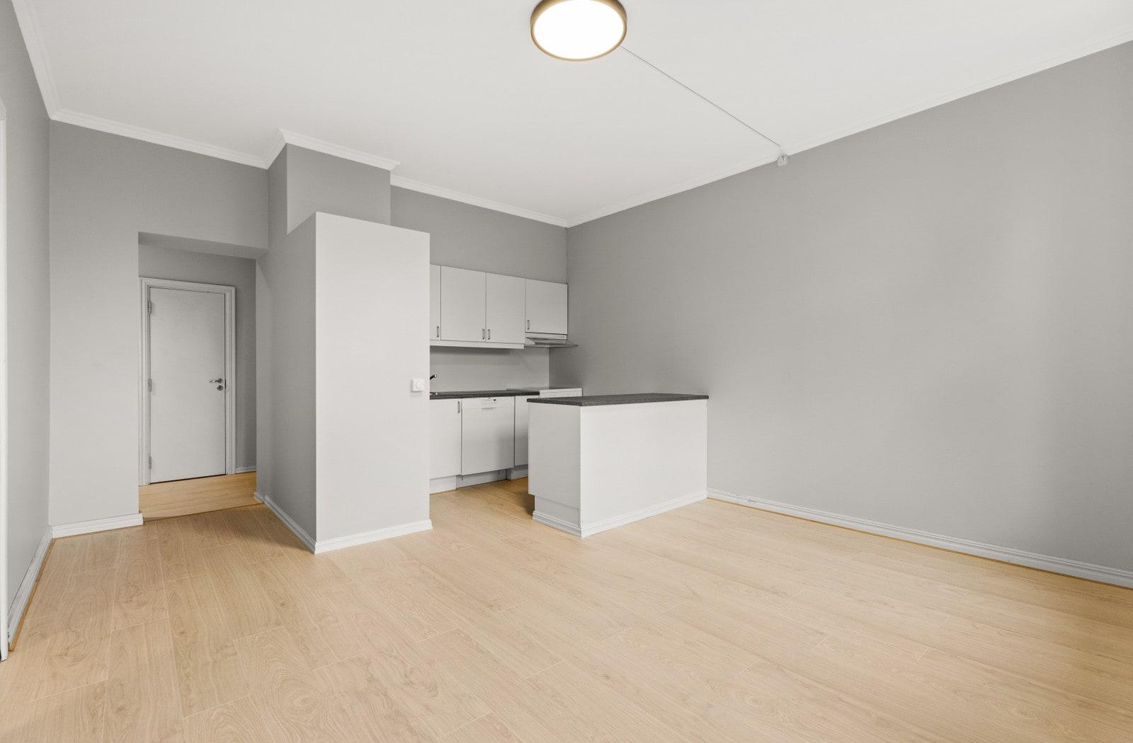 Kjøkken/stue (Bilder av tilsvarende leilighet i 3.etasje)