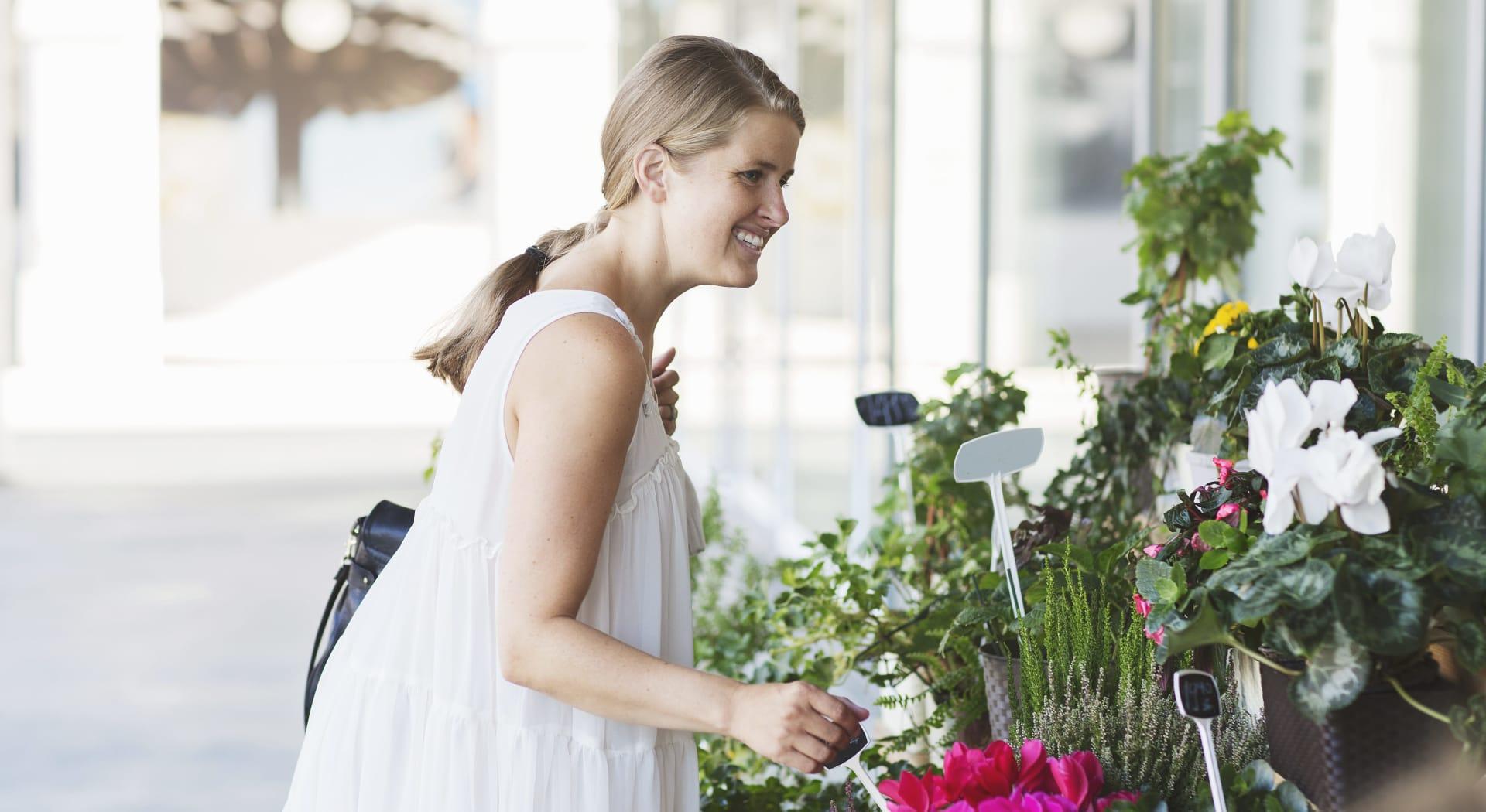 Blomsterbutikk finner du over gata fra Oslo K