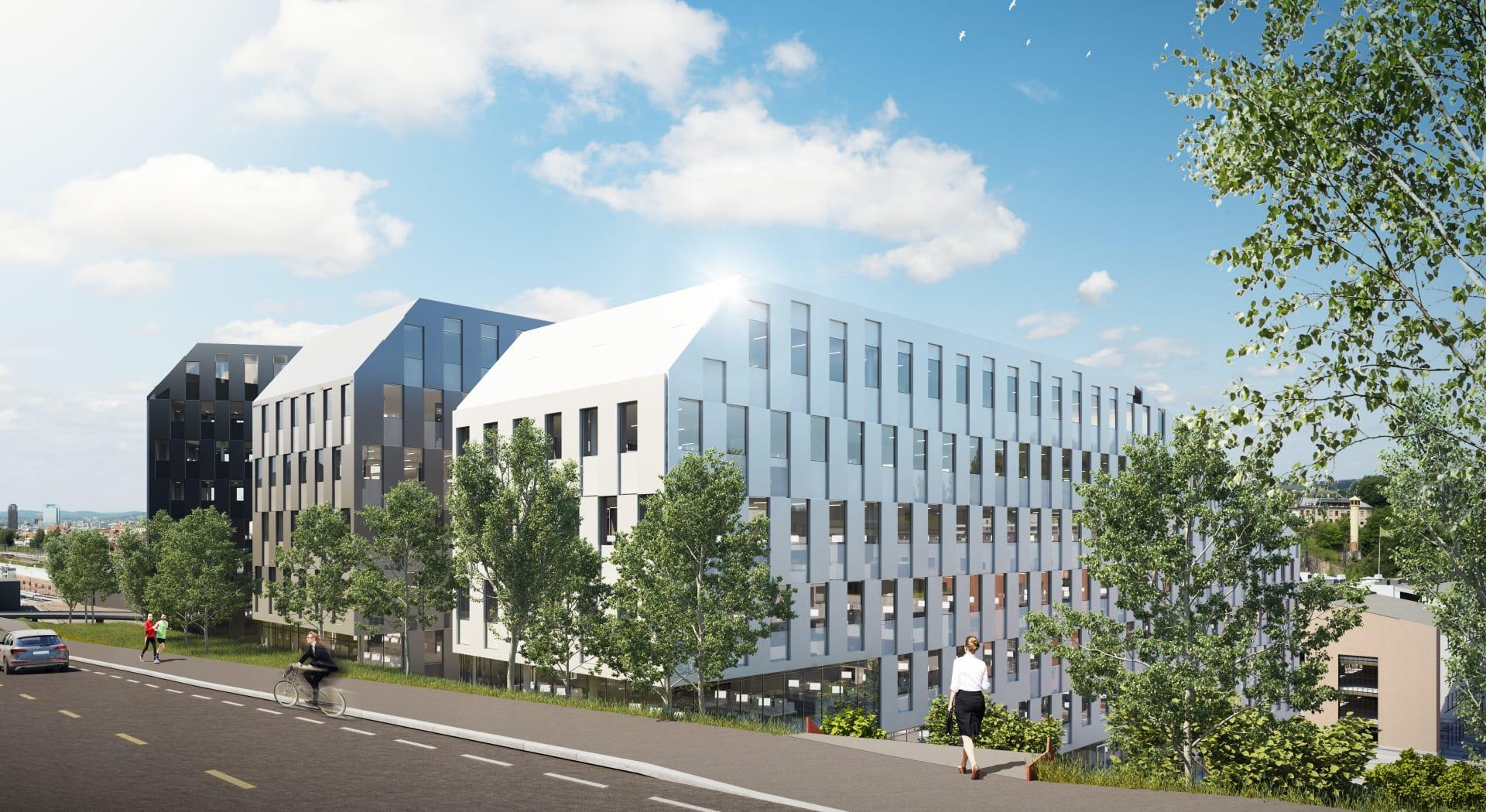 Enkelt å komme til Oslo K fra Konows gate. Bygget kan legge til rette for nye krav til arbeidsplassen etter pandemien.