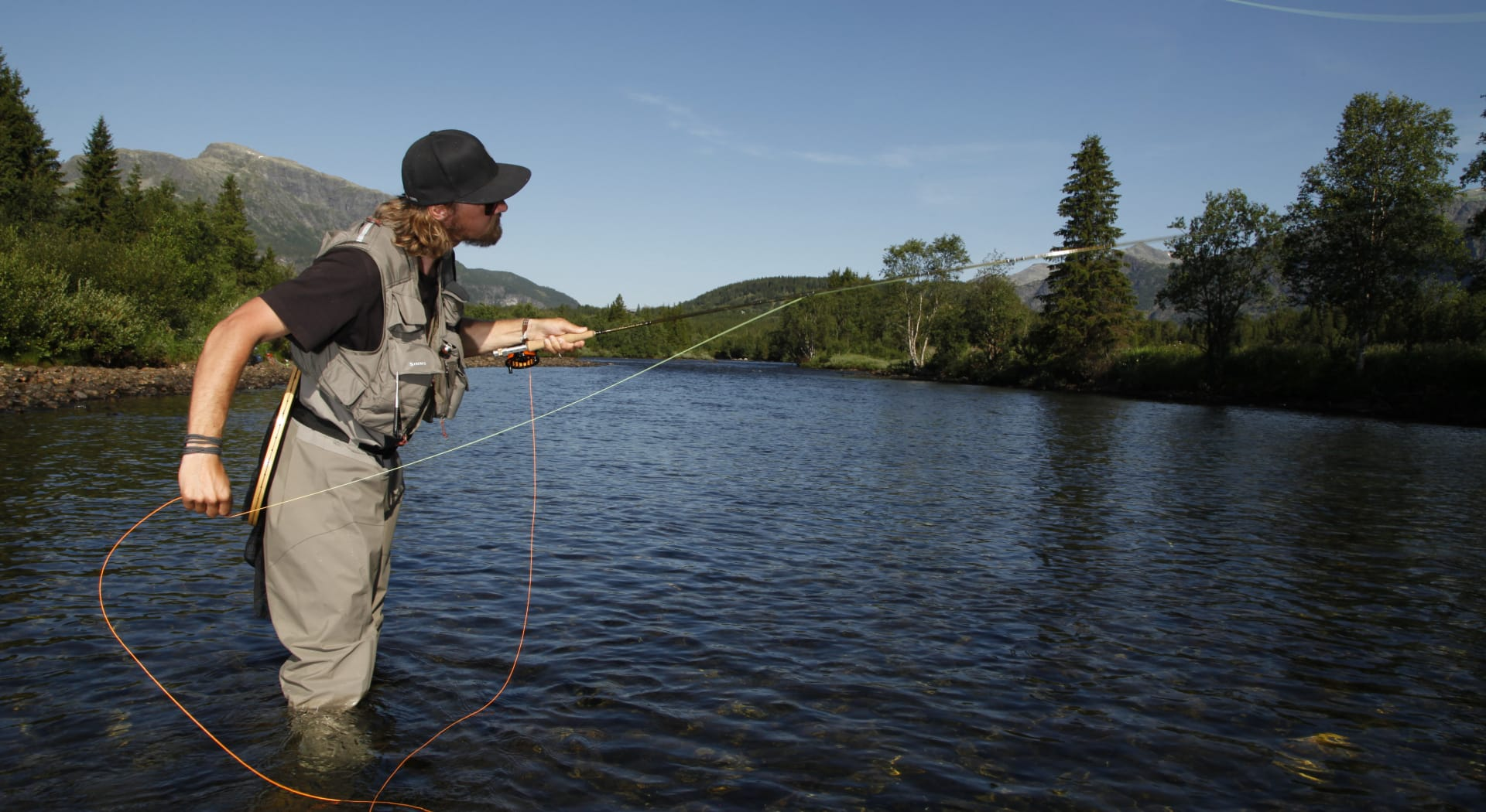 Heimsil er en svært populær elv for fluefiske. Foto Nils-Erik Bjørholt/Hemsedal.com