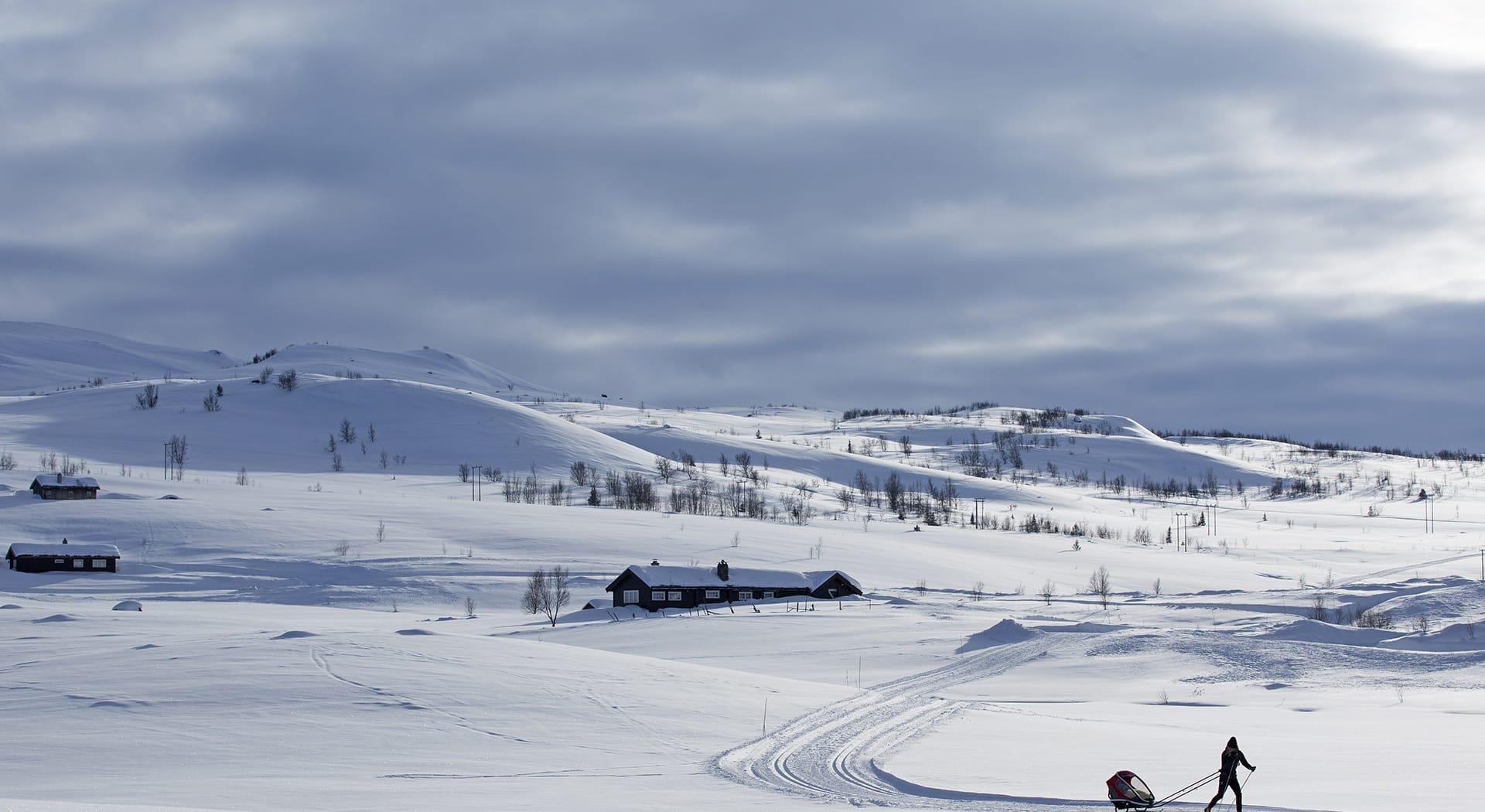 Hemsedal har milevis med langrennsløyper. Foto Kalle Hägglund.