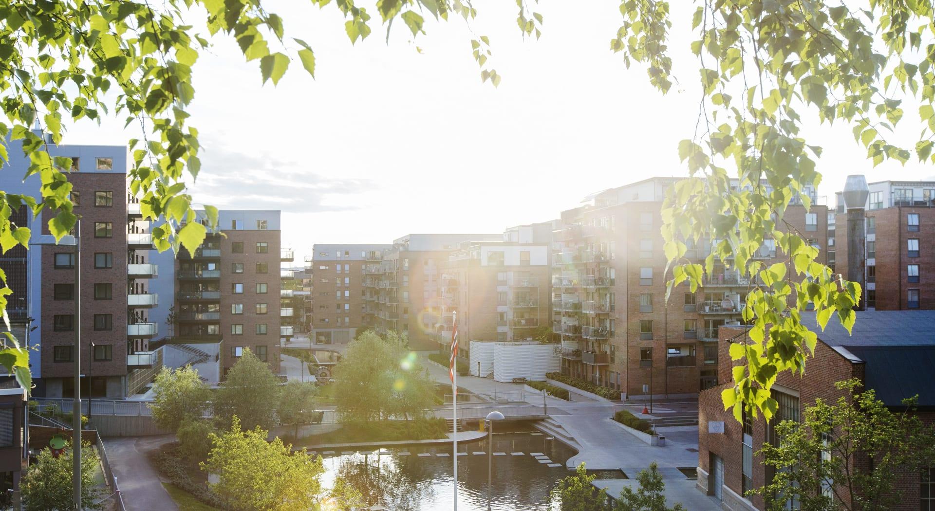 Kværnerbyen er en ny bydel med fine arealer og alle tjenester.