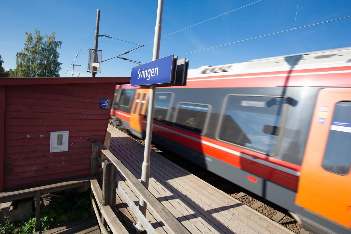 Toget tar den inn til hovedstaden på kun 20 min