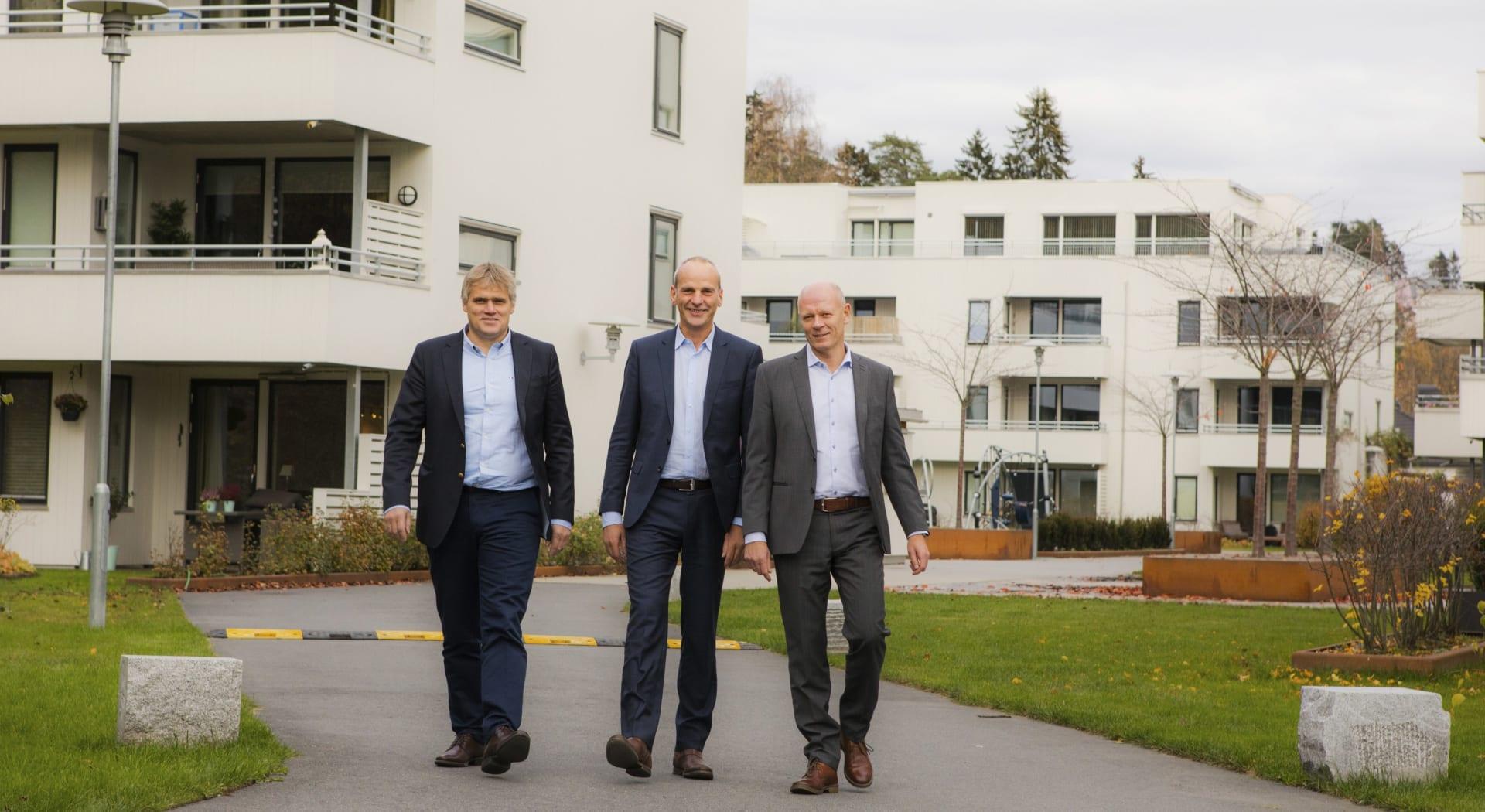 Foto: Kjetil Runningen (h), Peab,  Lasse Skjelbred, Conceptor Bolig og John Ivar Mejlander-Larsen, Peab