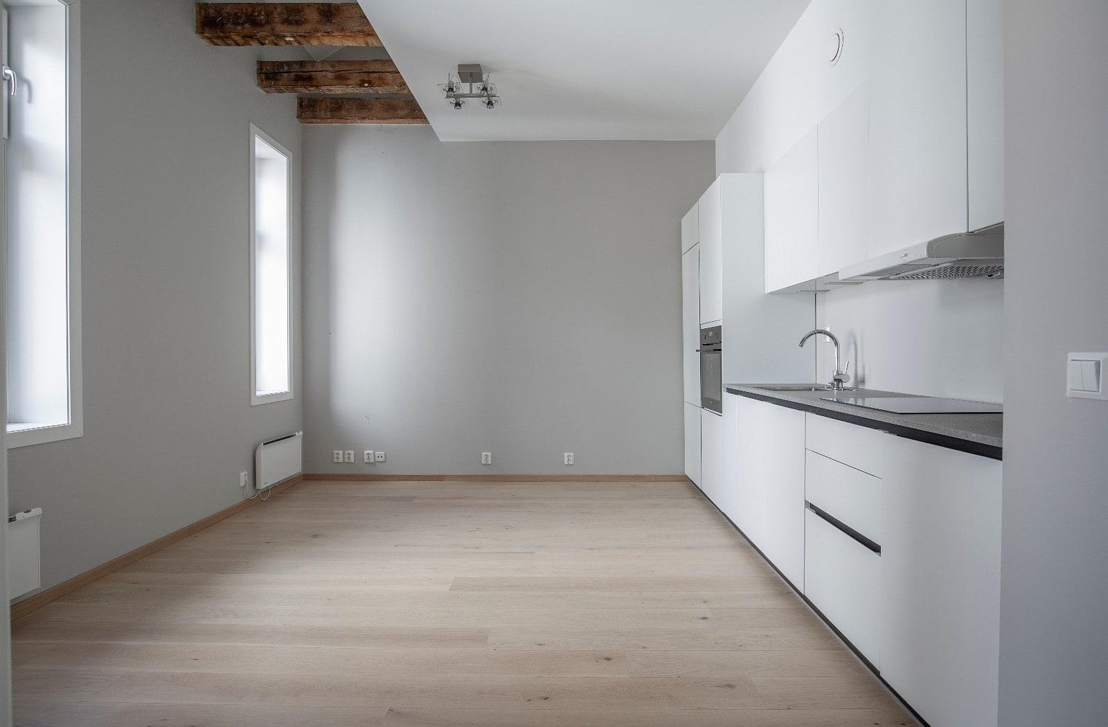 Åpen stue-kjøkken-løsning
