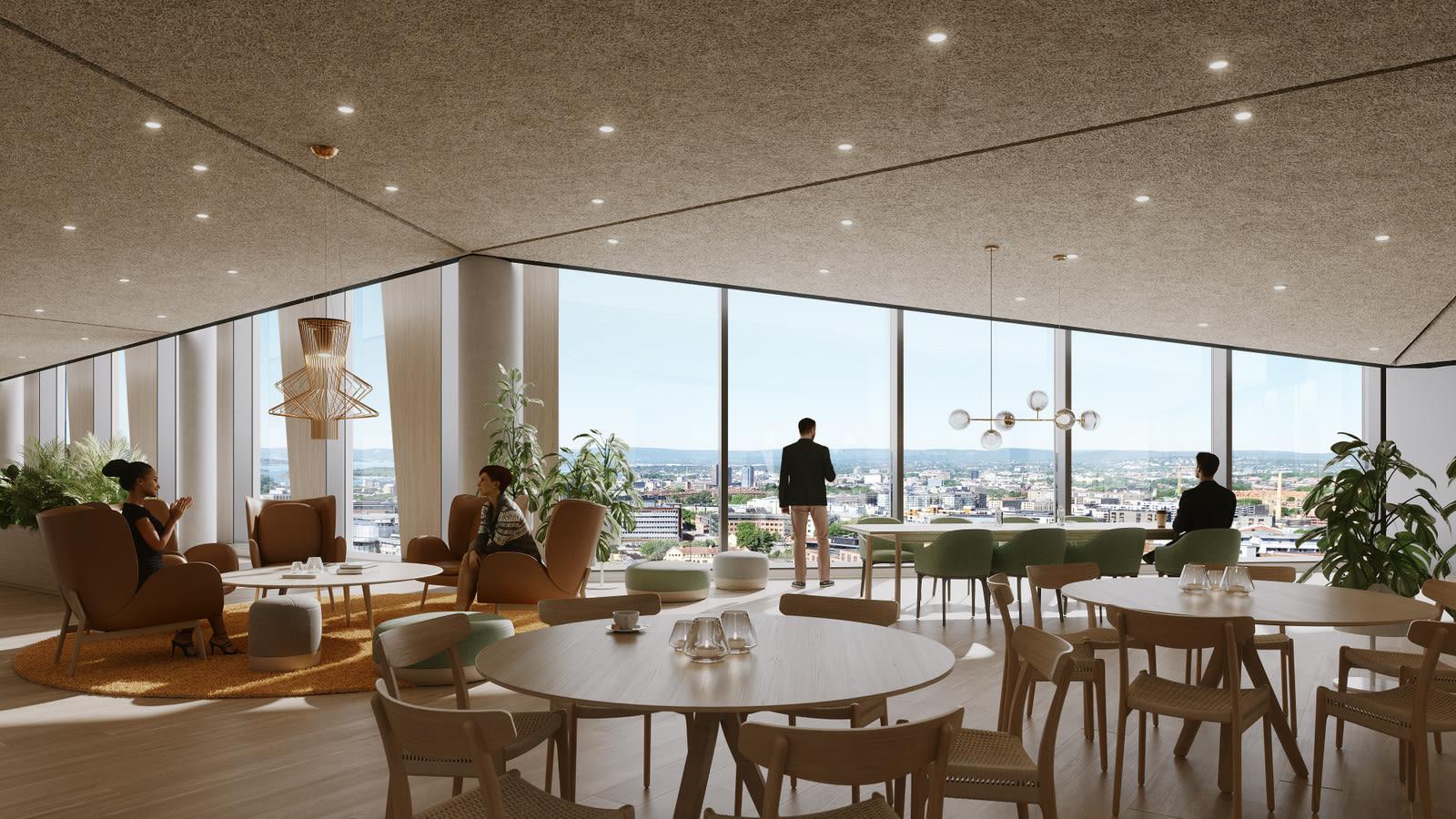 Valle Sky blir felles personalrestaurant i toppetasjen