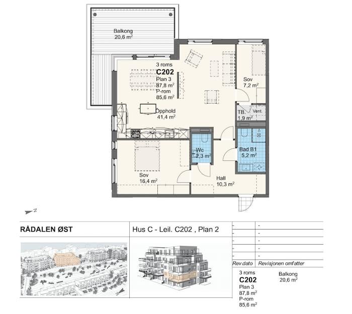 Rådalsåsen Hus C - Leil. C202 , Plan 2