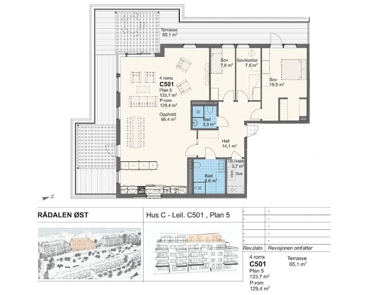 Rådalsåsen Hus C - Leil. C501 , Plan 5